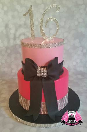Sparkly Sweet Sixteen Cake - Cake by Cakes ROCK!!!