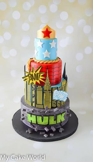 Super Hero Cake - Cake by Mercedes