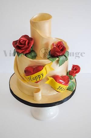 Sweet 16 Tattoo cake - Cake by Victoria Forward