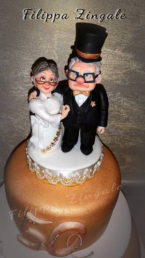 Carl & Ellie anniversary - Cake by filippa zingale