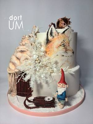 Winter in Gnome eyes - Cake by dortUM