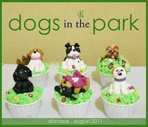 Dogs in the Park - Cake by Diana