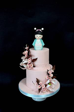 Kokeshi doll - Cake by Delice
