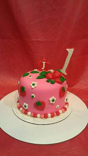 Strawberry Shortcake 1st Birthday - Cake by toshaedibles