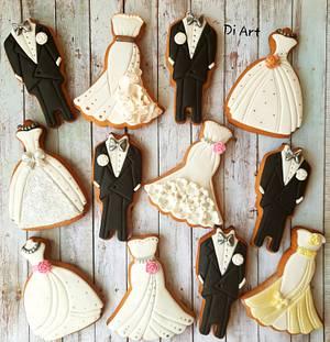 Wedding cookies  - Cake by DI ART
