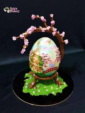 Cherry Blossom - Huevos de Pascua Estilo Faberge Challenge 2018 - Cake by Marianela Ulate