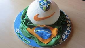 Cake for a young Brazil football fan - Cake by Joy Apollis
