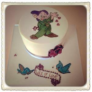 """Handpainted """"Dopey"""" birthday cake - Cake by Mandy"""