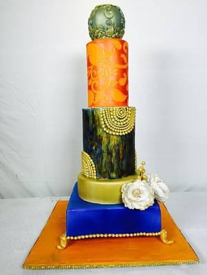#Indo# western #wedding #cake - Cake by Payal