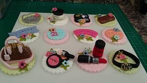 Girly cupcake toppers - Cake by Karen's Kakery