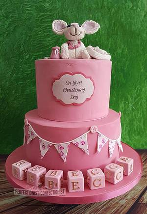 Rebecca - Christening Cake - Cake by Niamh Geraghty, Perfectionist Confectionist
