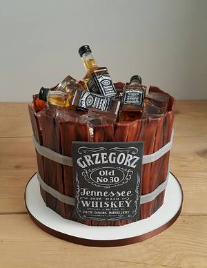Jack Daniel's birthday cake - Cake by Agnieszka Czocher
