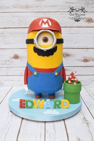 Super Mario Minion - Cake by Deb Williams Cakes