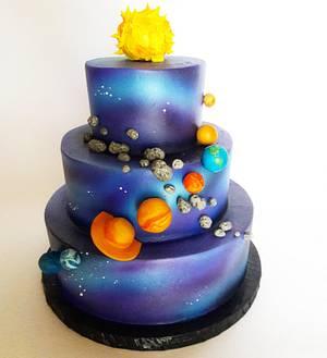 galaxy - Cake by breyanne