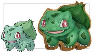 How to Draw Pokemon #001 BULBASAUR On Cookies - Cake by SweetPoppyArt