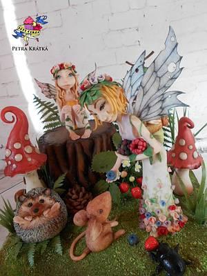 Fairies - Cake by Petra Krátká (Petu Cakes)