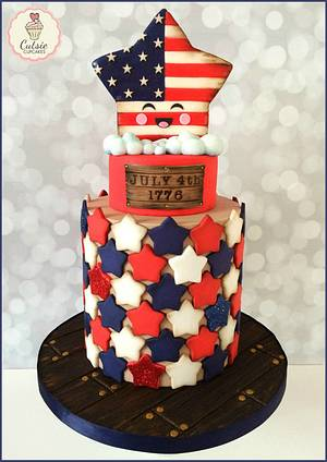 Fourth of July Cake - Cake by Cutsie Cupcakes