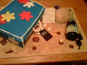 Beach Bag Birthday Cake - Cake by Maureen