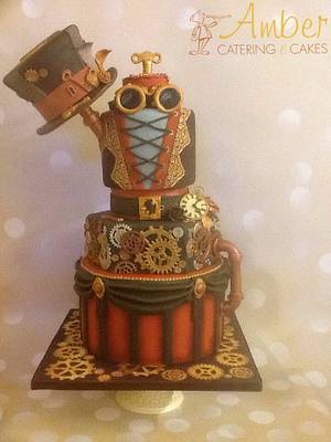 Steampunk  - Cake by Amber Catering and Cakes