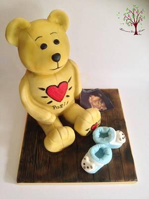 Baby Shower Teddy - Cake by Blossom Dream Cakes - Angela Morris