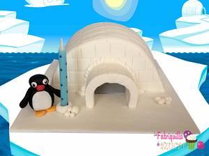 PINGU - Cake by Fabriquilla de Azucar