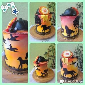 Horses - Cake by luhli
