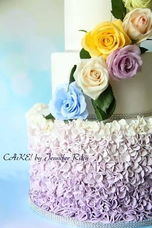 Ombre Ruffles - Cake by Cake! By Jennifer Riley