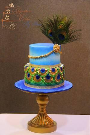 Peacock Cake  - Cake by Signature Cake By Shweta