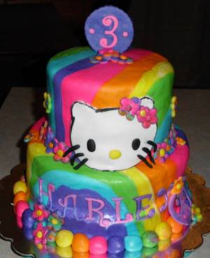 Double Rainbow Cake - Cake by Carrie Freeman