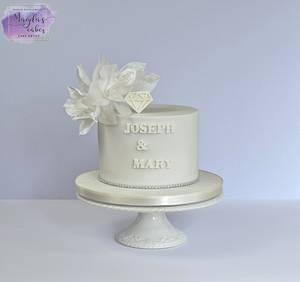 Diamond anniversary - Cake by Magda's Cakes (Magda Pietkiewicz)