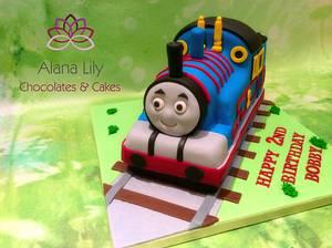It's Thomas....The Tank Engine....Choo Choo  - Cake by Alana Lily Chocolates & Cakes