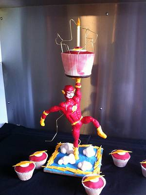 The Flash (aka Barry) - Cake by cakebelly