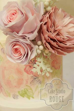 Floral wedding cake - Cake by Ceca79