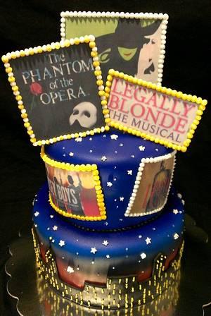 Broadway Musicals Birthday Cake - Cake by Kristi