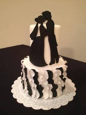 sihouette cake - Cake by Samantha Corey