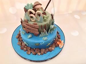 Fisherman's 60th Birthday cake - Cake by Yvonne Beesley