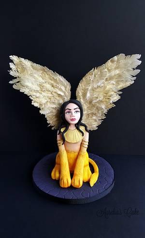 Sphinx- Fantastic Creatures Challenge - Cake by Aurelia's Cake