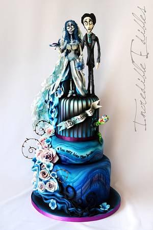 Corpse Bride Wedding Cake - Cake by Vicki's Incredible Edibles