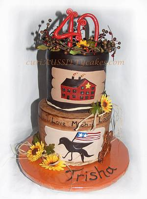 Americana Stacked boxes cake  - Cake by CuriAUSSIEty  Cakes