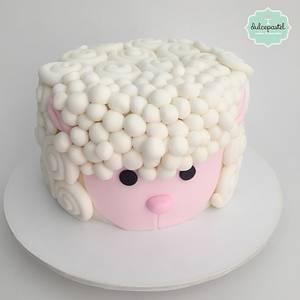 Torta Ovejita - Sheep cake - Cake by Dulcepastel.com