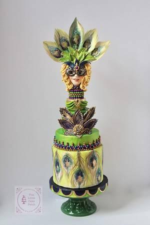 Mardi Gras Carnival Cakers Collaboration  - Cake by Joanne Wieneke