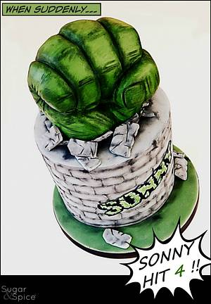 Hulk Smash Cake - Cake by Sugargourmande Lou