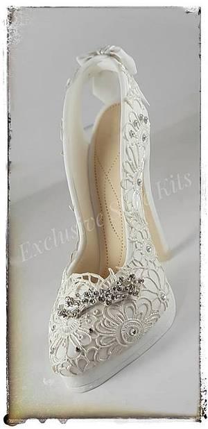 Wedding Lace Stiletto - Cake by Corni