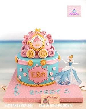Cinderella cake 👸 - Cake by Mero Wageeh