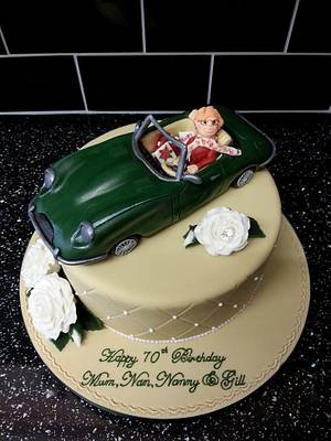 Jaguar E Type cake - Cake by Di's Delights