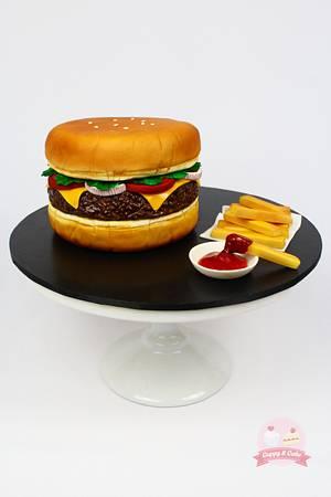 Hamburger cake - Cake by Cuppy & Cake