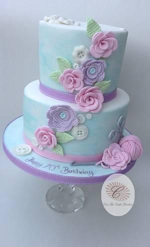 Crochet Hobby Cake - Cake by Emma Lake - Cut The Cake Kitchen