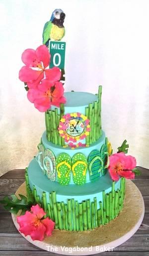 Key West/ Jimmy Buffet cake - Cake by The Vagabond Baker