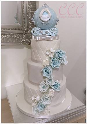 Cinderella Princess Wedding cake - Cake by Claire Lloyd, Claires Classy Cakes