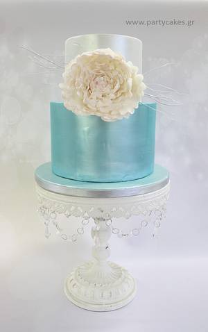 Frozen Peony - Cake by Cakes By Samantha (Greece)